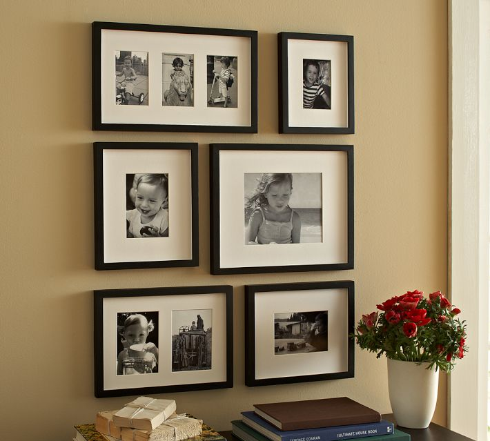 frames pictures cluster on trend wall art scott dawson the mirror mat frames pottery barn