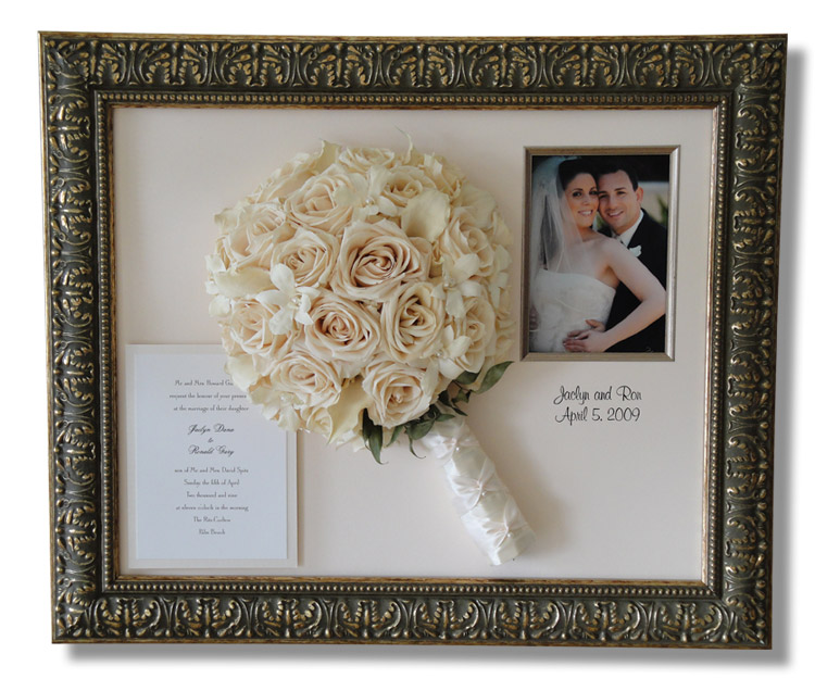 Wedding Picture Frame Ideas Even The Dress Can Be Framed